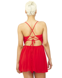 Hot Sugar Romper in Red at FLYJANE