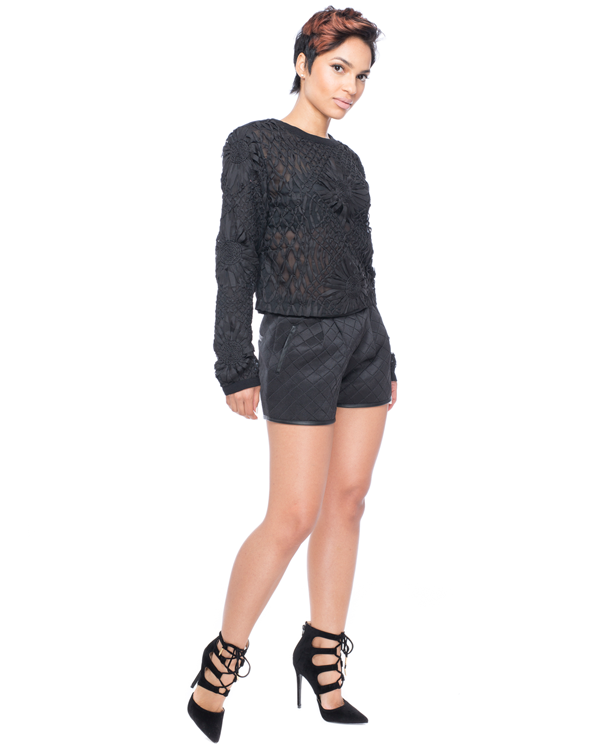 BLACK ROSES Sheer Blouse by Endless Rose at FLYJANE