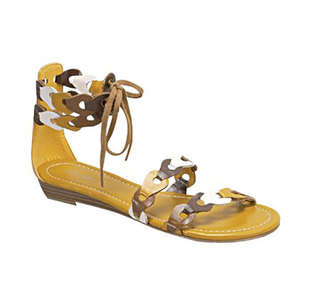 TORO Scalloped Tri-Colored Sandals in Mustard Yellow at FLYJANE | Cute Thong Sandals | Tri-colored Slides | Tri-colored Sandals | Yellow Sandals | Cute Sandals under $25 | Shop FLYJANE on Instagram