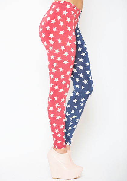 See You Monday Spangled Stars Leggings at FLYJANE
