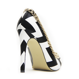 OPPOSITE WAYS Chevron Pump | Red Kiss So Coco Pump at FLYJANE