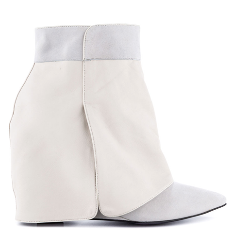 London Trash SIRI Wedge Boot in White at FLYJANE