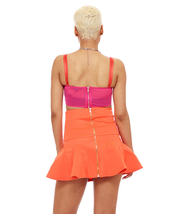 IT GIRLS FAVORITE Skater Skirt in Orange at FLYJANE