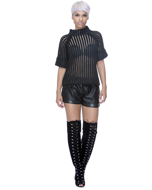 Get the AFTER PARTY Faux Leather Shorts in Black at ShopFlyJane.com