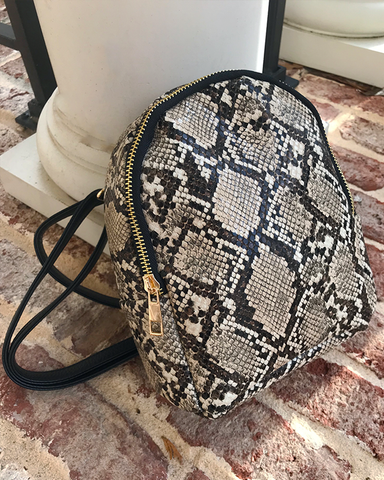 GUILTY PLEASURE Snake Print Mini Backpack at FLYJANE | Snakeprint Backpack Bag | Snake Mini Backpack