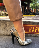 RATTLE ON Snakeskin Pump at FLYJANE | Snake Pump Platform Pump | Fall Fashion 2018 - Snakeprint Pumps under $50 | Shop Cute Fashion Forward Pieces at ShopFlyJane.com