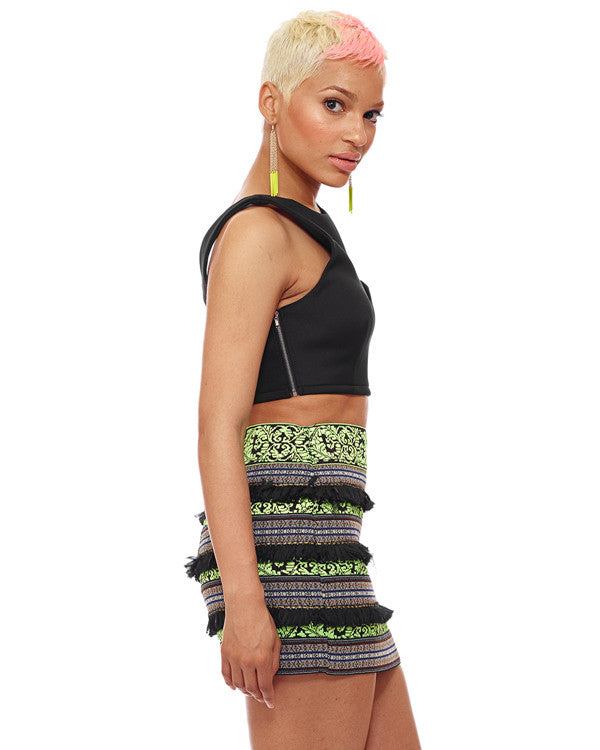 Electric Rhapsody Mini Skirt available NOW at FLYJANE