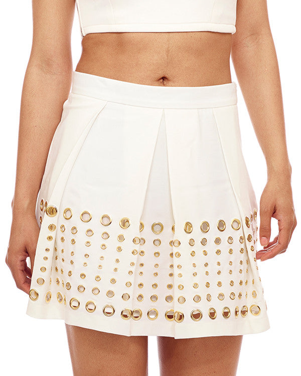 WHITE HOT NIGHTS Pleated Skirt at FLYJANE