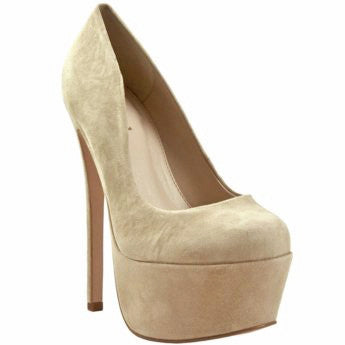 Zigi Girl SPYGLASS Platform Pump in Tori Beige Suede at FLYJANE