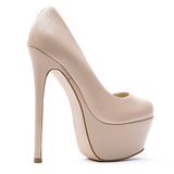 Zigi Girl SPYGLASS Platform Pump in Bisque Nude Leather at FLYJANE
