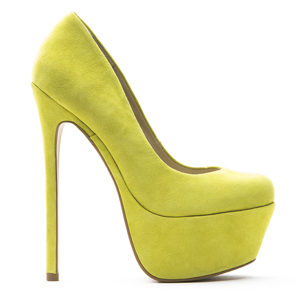 Zigi Girl SPYGLASS Platform Pump in Sweet Yellow Suede at FLYJANE