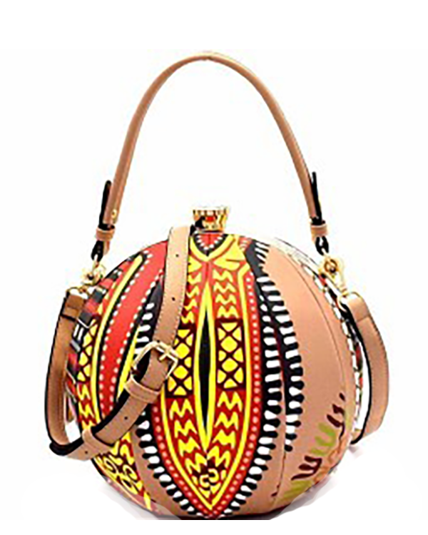 NAOMI TRIBAL Statement Ball Shaped Bag at FLYJANE | Add a Tribal Inspired Ball Shaped Bag to your wardrobe to make a statement. Creative Artsy Clutch Bags are trending for Fall. Make a Statement at ShopFlyJane.com