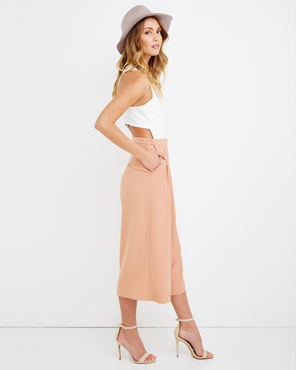 ARIANA PLEATED CULOTTE ROMPER