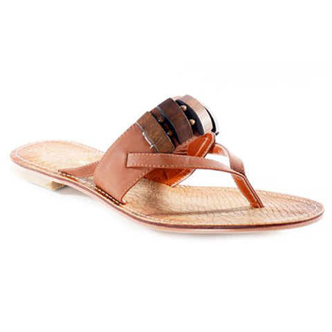 NOMI Beaded Thong Sandals in Camel at FLYJANE | Cute Thong Sandals | Camel Slides | Camel Thong Sandals | Cute Sandals under $25 | Shop FLYJANE on Instagram