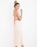 ULTERIOR MOTIVE SLIT MAXI SKIRT - BLUSH