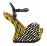 Jeffrey Campbell VICIOUS Heelless Platform Yellow Black Hearts at shopFLYJANE.com