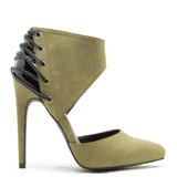 CABARET Corset Bootie in Olive for Fall at FLYJANE | Cute Booties for Fall in Olive Green at FLYJANE | Cute Booties for Fall under $50