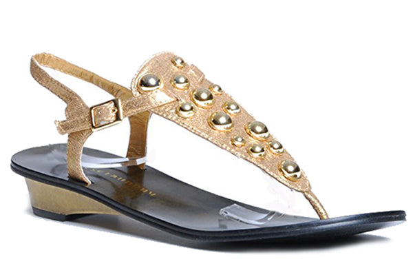 CHINESE LAUNDRY VOLUME Studded Thong Sandals in Gold at FLYJANE | Cute Thong Sandals | Gold Studded Sandals | Gold Sandals | Thong Sandals | Open Toe Sandals | Cute Sandals under $25 | Shop FLYJANE on Instagram