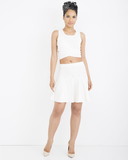 CAROLINE PLEATED KNIT SKIRT SET