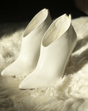 SHARLA Pointed Toe White Bootie at FLYJANE | Cute White Booties for Fall | Fall Fashion and White Heels at ShopFlyJane.com