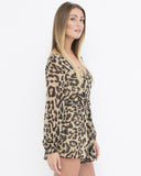 WILD THINGS Leopard Flowy Summer Romper at FLYJANE | Leopard Jumpers | Leopard Rompers | Flowy Summer Rompers | Chic Designer Summer Clothing