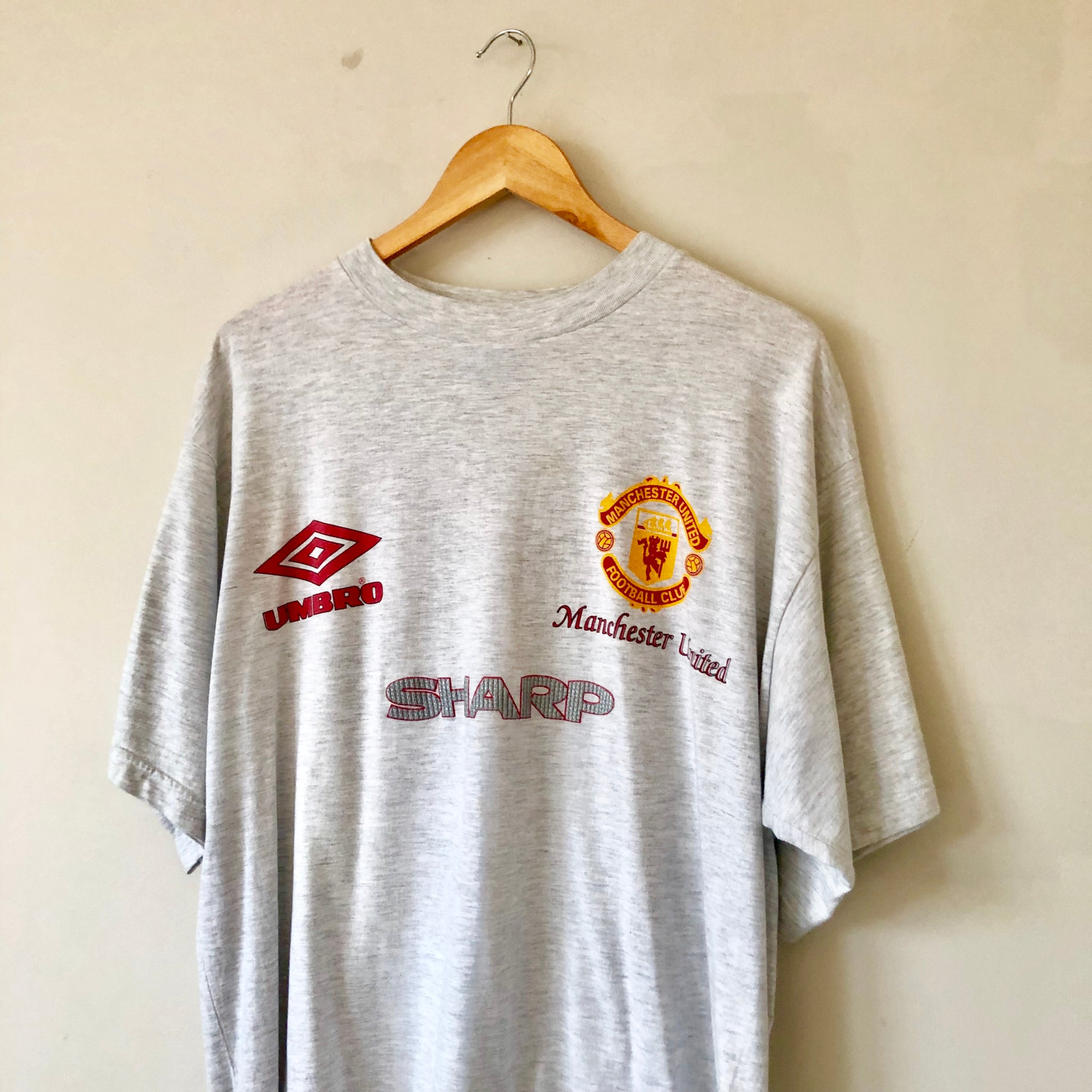 ed81a59afd1 Vintage Umbro Manchester United T Shirt - XL – archivemanchester