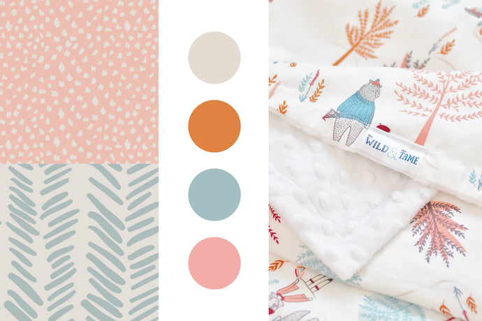 HOW TO PLAN YOUR NURSERY AROUND A FABRIC PRINT