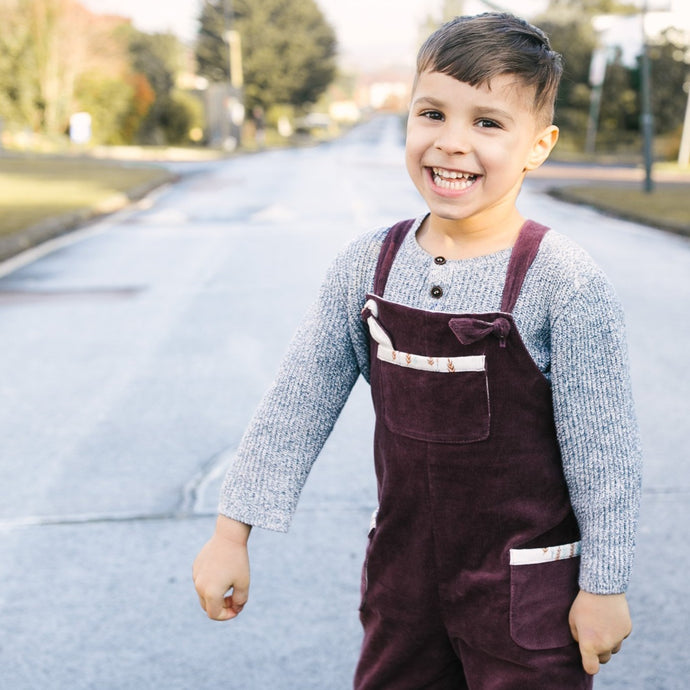 Berry Corduroy Dungarees (Pre-order)