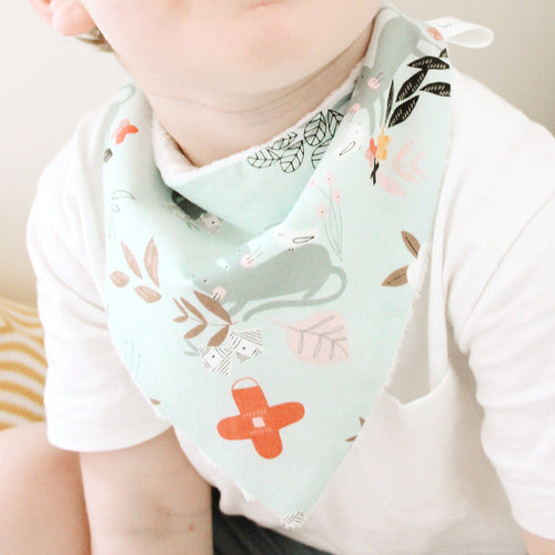 Curious Kitten Bandana Bibs - twin pack (New Year Pre-order)