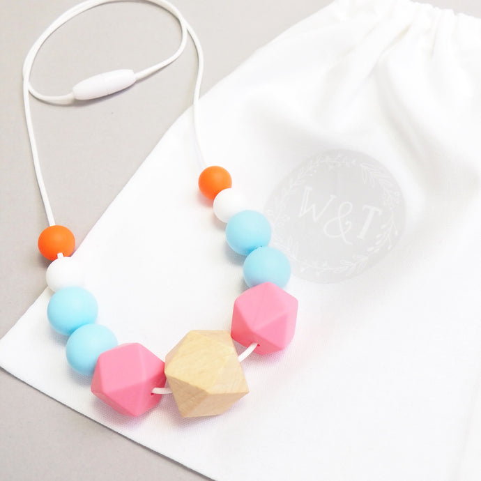 Doe Eyes Silicone Teething Necklace