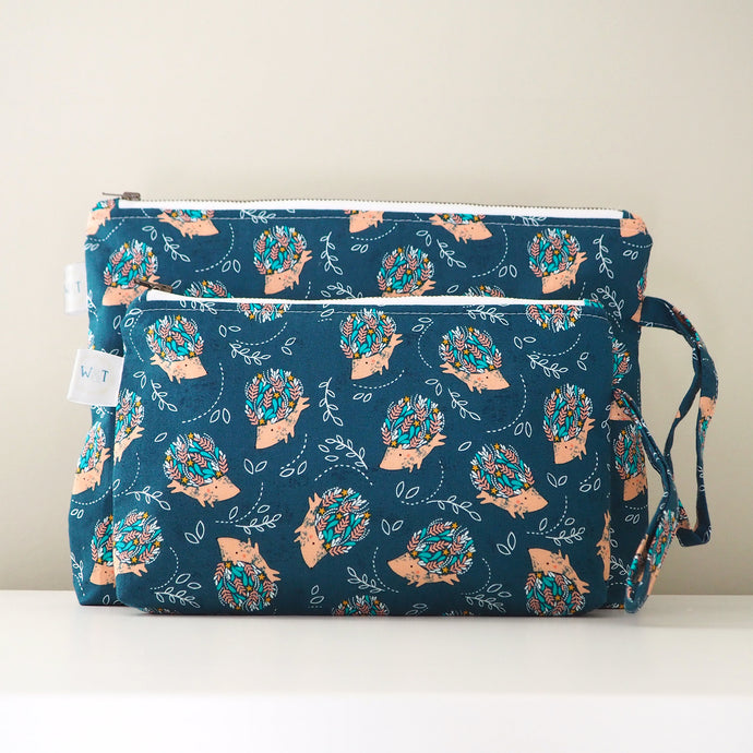 Happy Hedgehogs Nappy Pouch / Mama Pouch