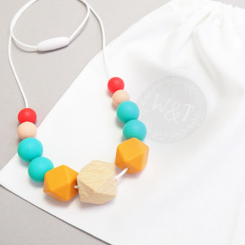 Hedgehog Silicone Teething Necklace