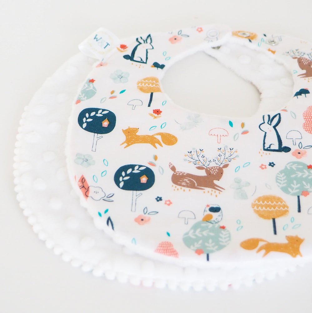 Neutral Woodland Baby Dribble Bib - The Wild and The Tame