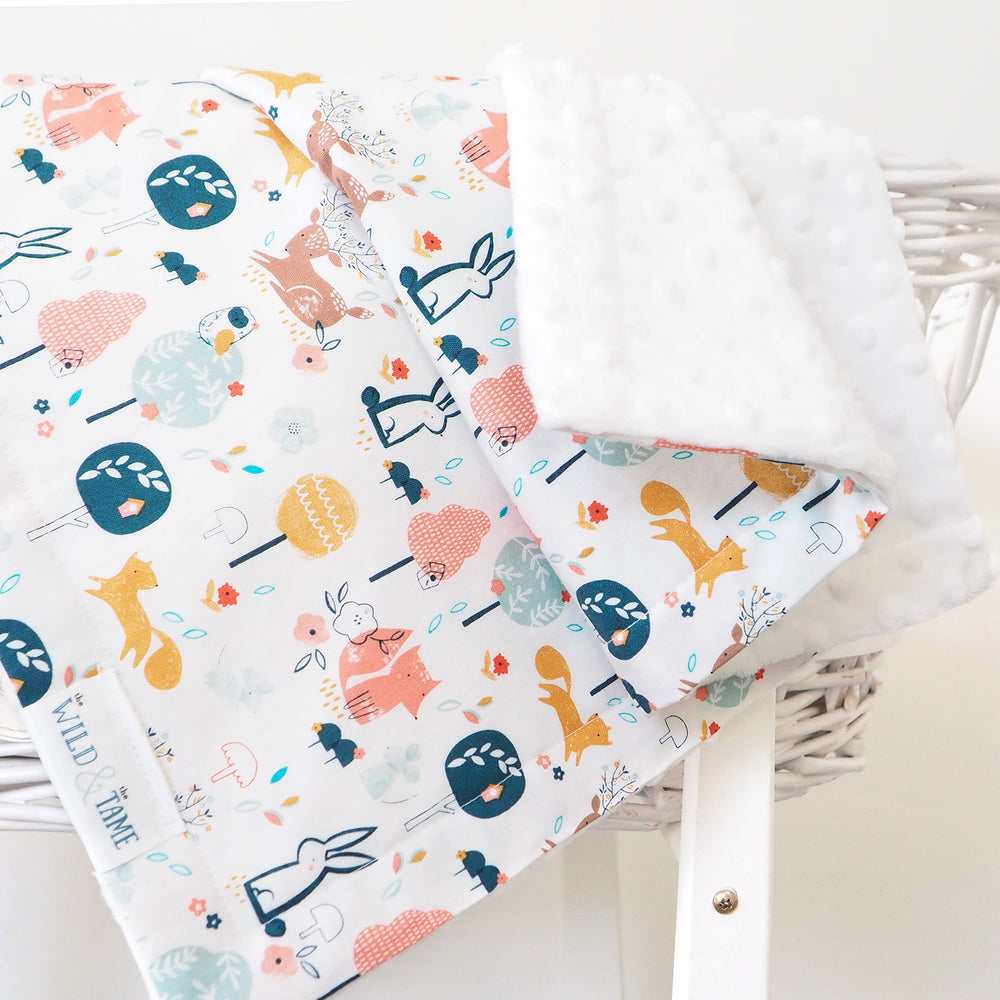 Woodland Cot and Moses Basket Baby Blankets - The Wild and The Tame