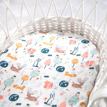 In The Woods Fitted Cot / Moses Basket Sheet (Pre-order)