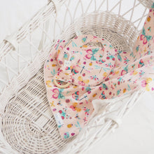 Handmade Pink Butterfly Print Newborn Moses Basket Blanket, Bib and Teething Ring - Baby Girl Gift - The Wild and The Tame