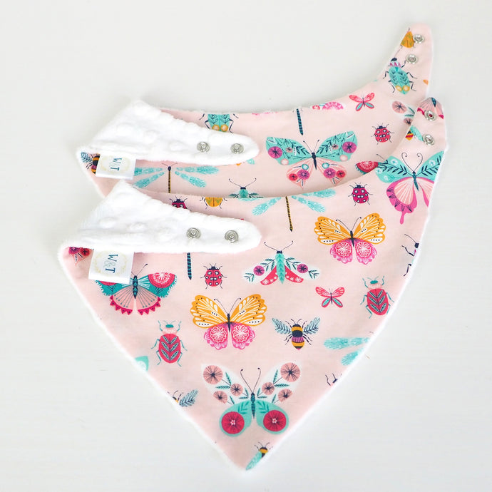 Love Bugs Bandana Bibs - twin pack