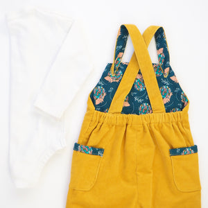 Mustard Corduroy Dungarees (Pre-order)