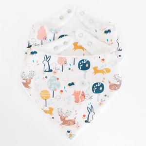 Woodland Print Baby Bandana Bib - The Wild and The Tame