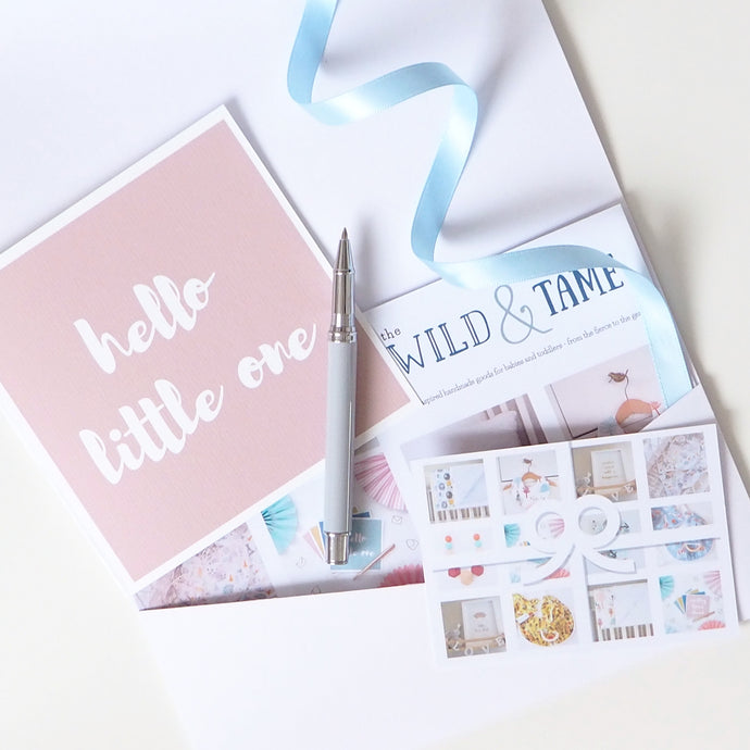 First Birthday Gift Card - First Birthday Present - The Wild and The Tame