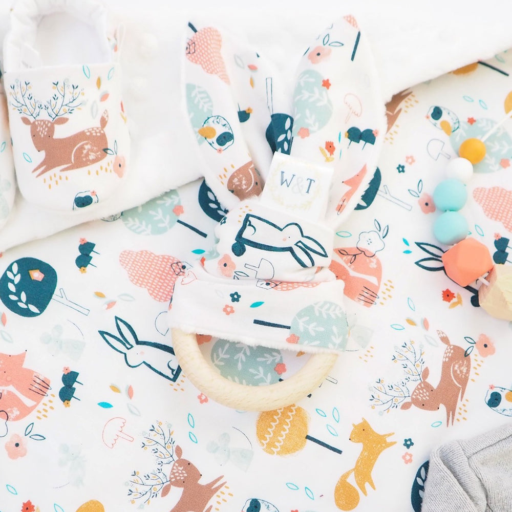 Woodland Print Baby Teething Ring - The Wild and The Tame
