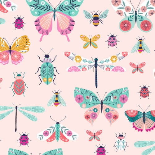 Butterfly Print Fitted Cot Mattress Sheet_The Wild and The Tame