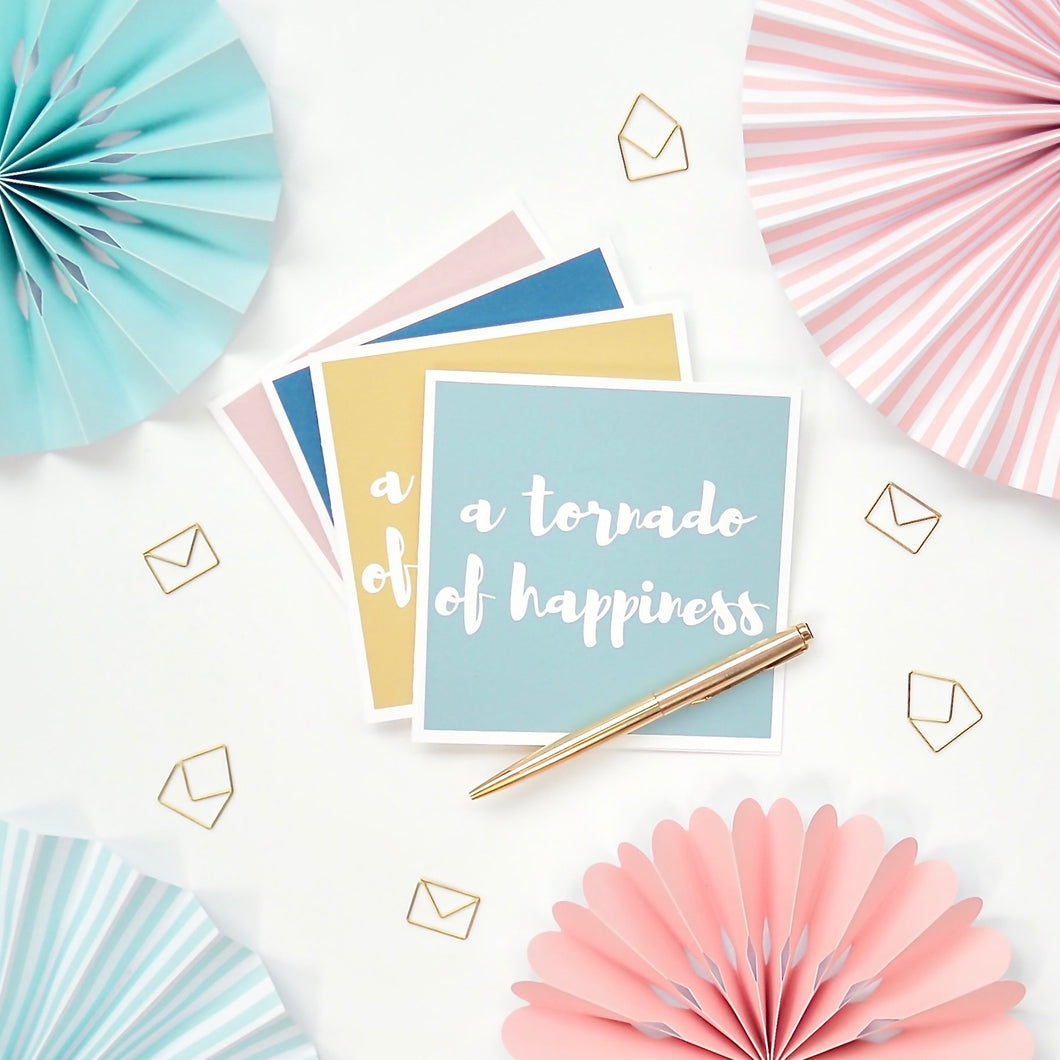 Tornado of Happiness Greeting Card