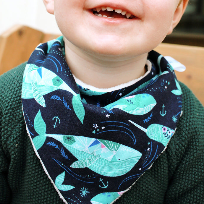 Wondrous Whales Bandana Bibs - twin pack
