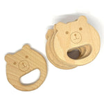 Wooden Bear Baby Teether