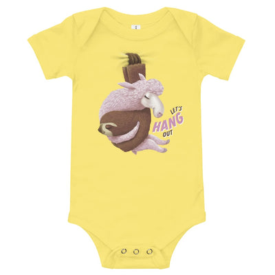 Baby One Piece - Lets Hang Out Yellow / 3-6m