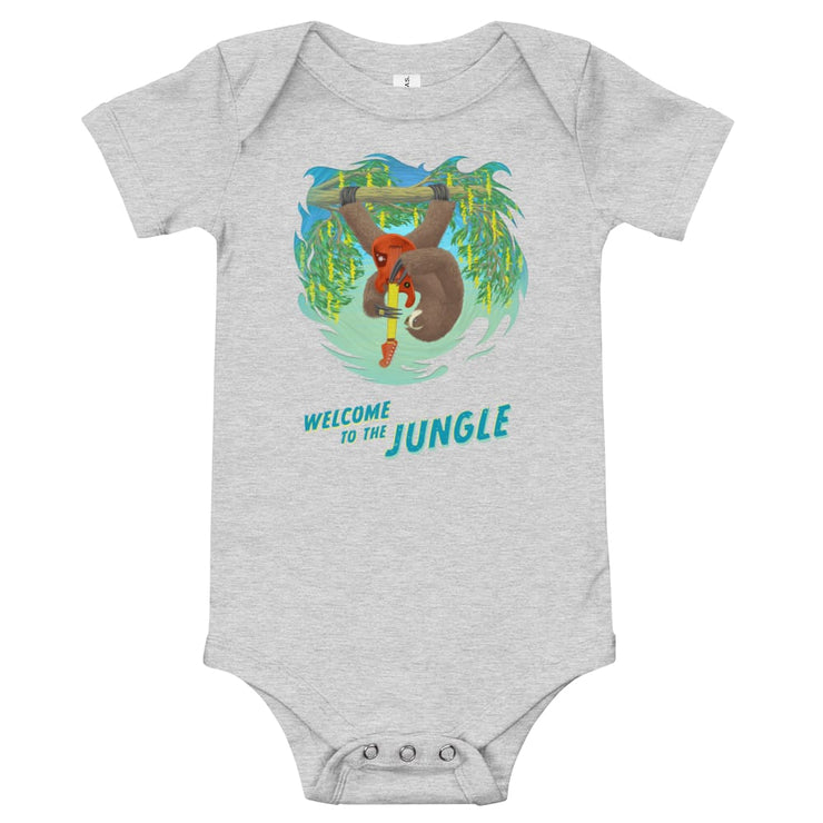 Baby One Piece - Welcome to the Jungle Athletic Heather / 3-6m