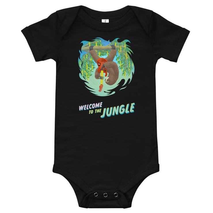 Baby One Piece - Welcome to the Jungle Black / 3-6m