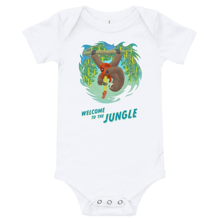 Baby One Piece - Welcome to the Jungle White / 3-6m