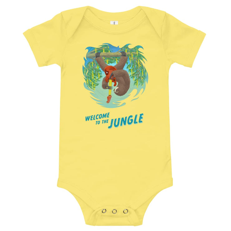 Baby One Piece - Welcome to the Jungle Yellow / 3-6m